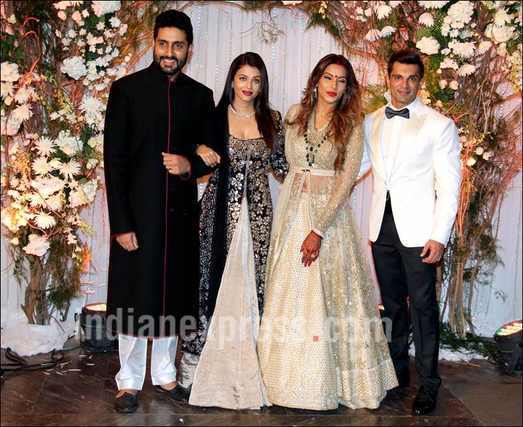 aishwarya at bipasha basu's reception