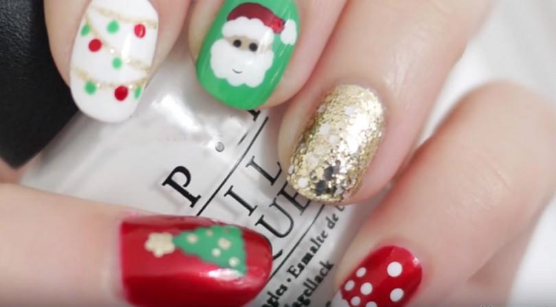 Easy Christmas Nails, Nail Art | Beautyikon - Beauty & Lifestyle Blog