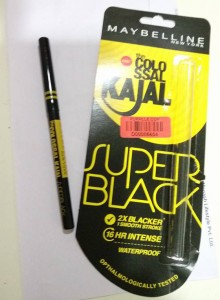 Maybelline Colossal Super Black Kajal - With Front Packaging