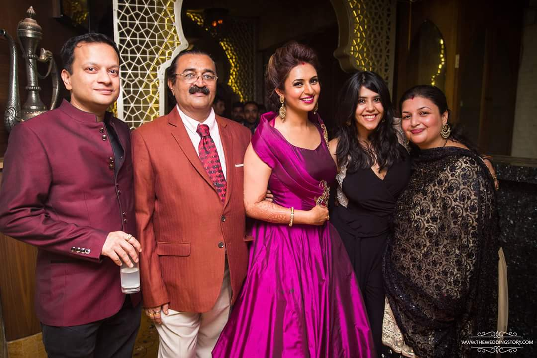 Vivek & Divyanka Tripathi Reception Photos (1)