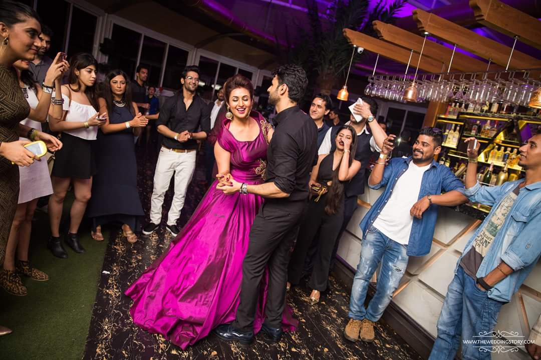 Vivek & Divyanka Tripathi wedding Reception Photos