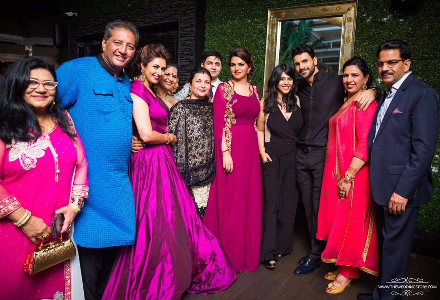 Vivek & Divyanka Tripathi Reception Photo with ekta kapoor