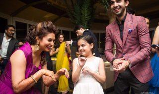 Vivek & Divyanka Tripathi Reception Photo with Juhi