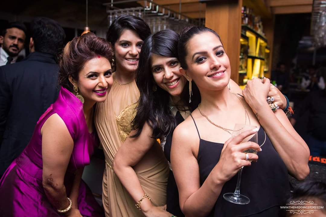 Divyanka Tripathi Reception Photo iwth ekta kapoor
