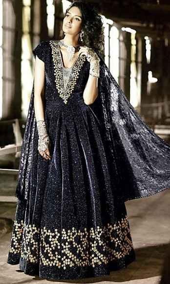 Velvet Anarkali Suits
